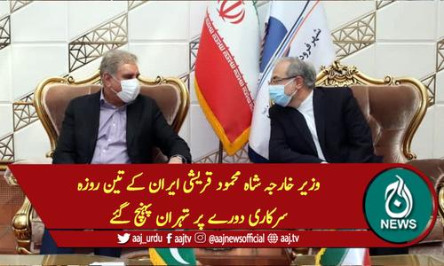 وزیر خارجہ شاہ محمود قریشی ایران کے تین روزہ سرکاری دورے پر تہران پہنچ گئے
