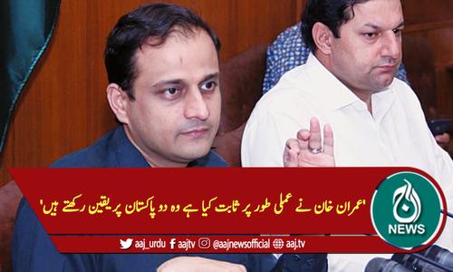 'عمران خان نے عملی طور پر ثابت کیا ہے وہ دو پاکستان پر یقین رکھتے ہیں'
