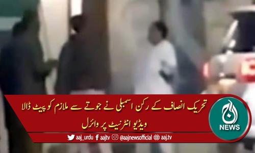 تحریک انصاف کے رکن اسمبلی نے جوتا اتار کر ملازم کو دے مارا
