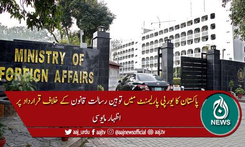 یورپی پارلیمنٹ: توہین رسالت قانون پر گفتگو، پاکستان کا اظہارِ مایوسی