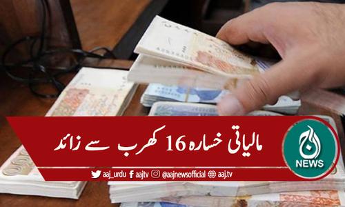 ملک کا مالیاتی خسارہ 16 کھرب 52 ارب روپے ہوگیا