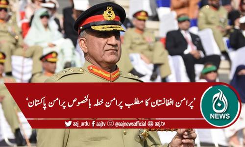 'افغان عوام کی دیرپا امن کی کوششوں کی حمایت کرتے رہیں گے'