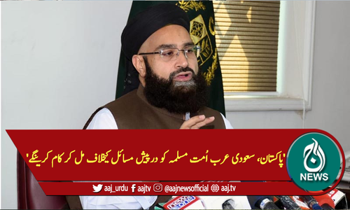 'پاکستان، سعودی عرب اُمت مسلمہ کو درپیش مسائل کیخلاف مل کر کام کرینگے'