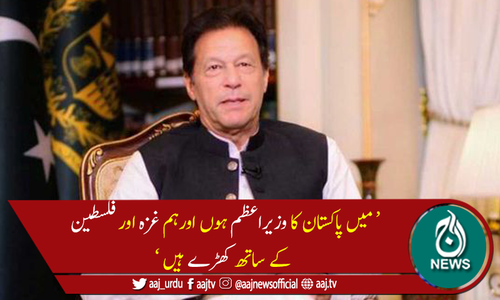 ہم غزہ اور فلسطین کے ساتھ کھڑے ہیں، وزیراعظم عمران خان