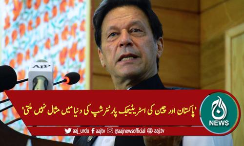 'پاکستان اور چین کی اسٹریٹیجک پارٹنرشپ کی دنیا میں مثال نہیں ملتی'