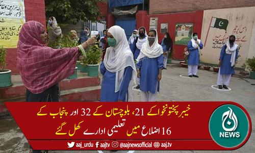 خیبرپختونخوا، بلوچستان اور پنجاب کے مختلف اضلاع میں تعلیمی ادارےکھل گئے