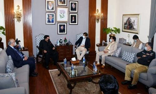 Sheikh Rasheed assures CM Murad of govt's support in operation against bandits
