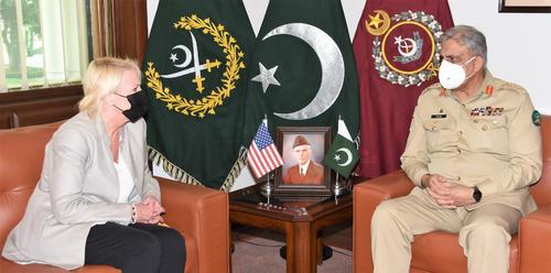 US Charge d'Affairs calls on COAS, discusses developments in Afghan peace process