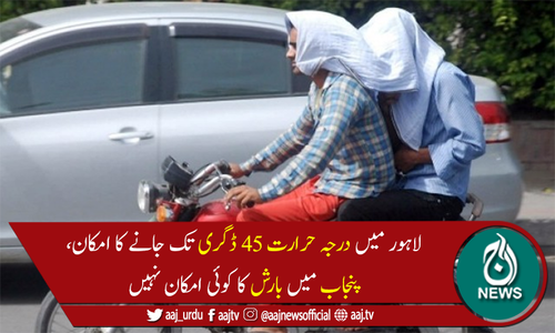 پنجاب میں گرمی کی شدت میں مزید اضافہ، شہری بلبلا اٹھے
