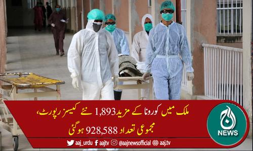 پاکستان میں کورونا سےمزید 83 اموات، جاں بحق افراد کی تعداد 21,105 ہوگئی