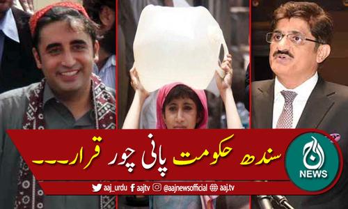 ' سندھ کا پانی، سندھ حکومت میں شامل بااثر لوگ چوری کررہے ہیں'