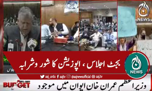 قومی اسمبلی میں بجٹ اجلاس کے دوران اپوزیشن کا شور و شرابہ