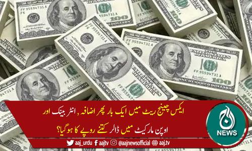 پاکستان میں امریکی ڈالر کی قیمت میں ایک بار پھر اضافہ