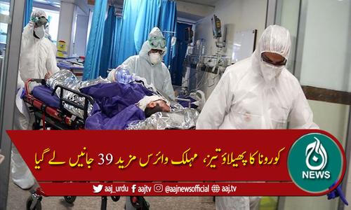 پاکستان: کورونا سے مزید 39 اموات، 2783 نئے کیسز رپورٹ