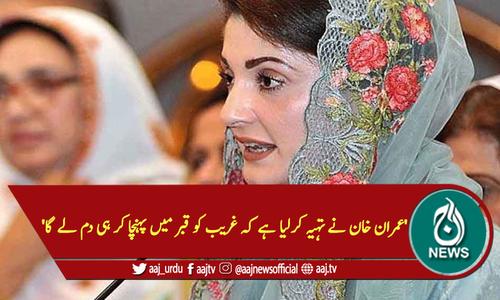 'عمران خان نے تہیہ کرلیا ہے کہ غریب کو قبر میں پہنچا کر ہی دم لے گا'