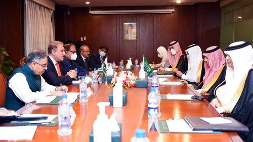 Pakistan, Saudi Arabia agree to continue to work together to facilitate regional peace