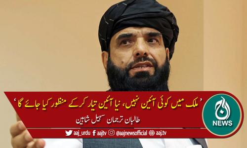 انتخابات کا وقت نہیں، جلد جامع حکومت تشکیل دیں گے، ترجمان طالبان