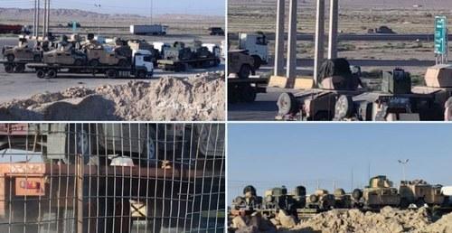 امریکی بکتر بند گاڑیوں کی ٹرکوں پر افغانستان سے ایران اسمگلنگ