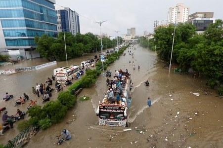 Heavy rainfall hits several areas of Karachi