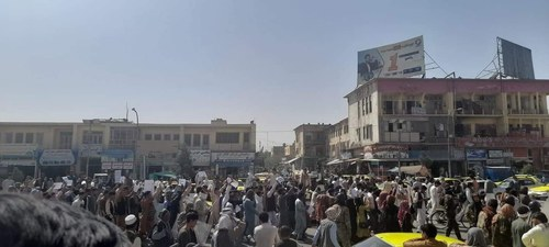 Afghans gather to protest in Kabul; anti-Pakistan slogans heard