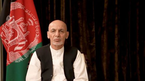 Exiled Ghani apologizes to Afghan people