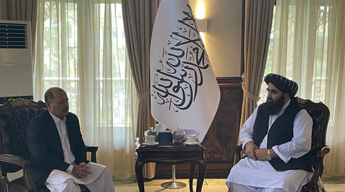 Ambassador Mansoor, Afghan foreign minister Muttaqi discuss bilateral ties