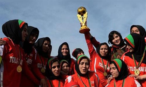 افغان خواتین فٹبال ٹیم پاکستان پہنچ گئی