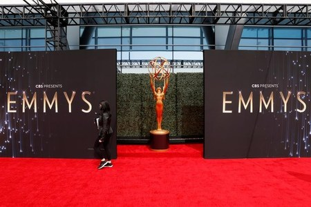 Dinner party-style Emmys display little overt sign of pandemic constraints
