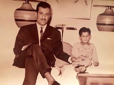 شاہ سلمان اور ان کے بیٹے شہزادہ عبدالعزیز کے بچپن کی نایاب فوٹو