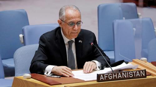 اقوام متحدہ  سے افغان مندوب کا  نام خارج
