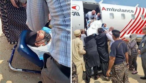 عمر شریف علاج کیلئے بذریعہ ایئر ایمبولینس امریکا روانہ ہوگئے
