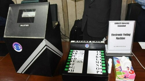 """EVMs to be used in next election """"at all costs"""" says PM Imran"""