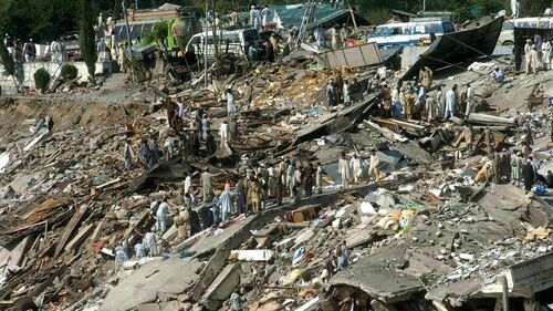 Bereaved families mourn victims of 2005 earthquake