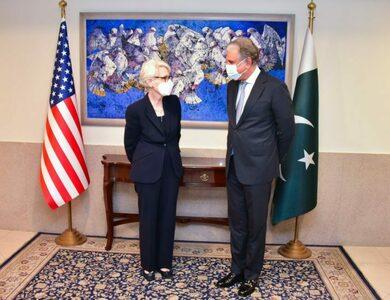 FM Qureshi, US Deputy Secretary of State Sherman discuss Afghanistan, regional peace
