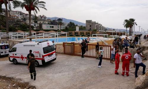 لبنان کے ساحل پر چھوٹا طیارہ گِر کر تباہ