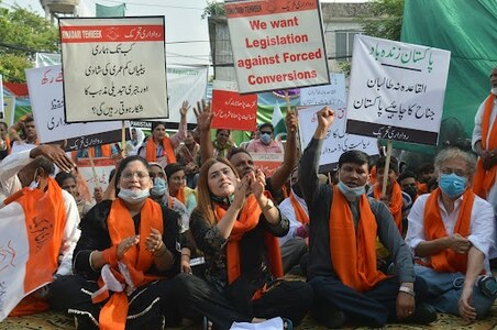 Panel's rejection of anti-forced conversion bill leads to protest by minorities members