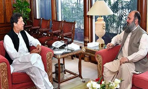 وزیراعظم عمران خان سے وزیراعلیٰ بلوچستان جام کمال کی ملاقات