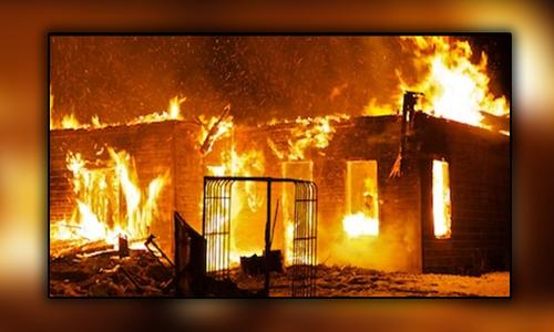 مظفر گڑھ: گھر میں آتشزدگی ، ایک ہی خاندان کے 7 افراد جاں بحق