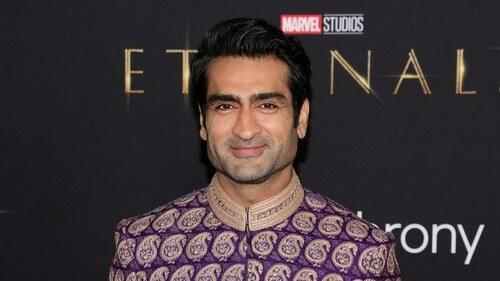 "Kumail Nanjiani stuns in a Umar Sayeed sherwani for ""Eternals"" premiere"
