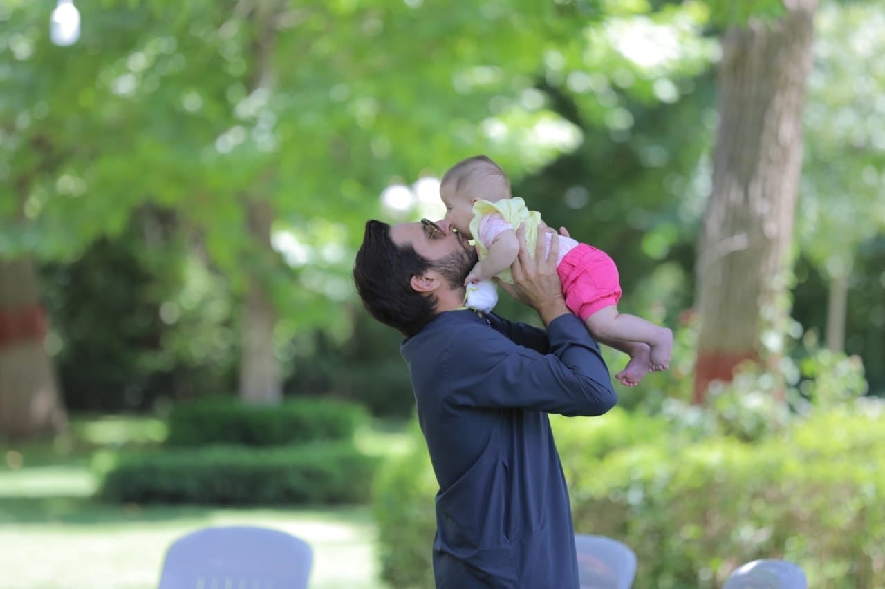 """Afridi tweeted:  """"Alhamdulillah, my wife & daughters, Aqsa & Ansha have re-tested after our previously positive results for COVIDー19, & are now clear. Thanking u all for your continuous well wishes, & may the Almighty bless you and yours. Now back to family time; I've missed holding this one Smiling face with smiling eyes. """""""