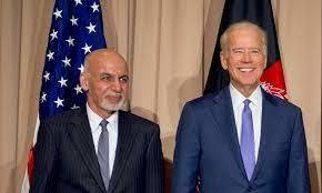 """In their call, Biden and Ghani """"agreed that the Taliban's current offensive is in direct contradiction to the movement's claim to support a negotiated settlement of the conflict,"""" a White House statement said. Reuters"""