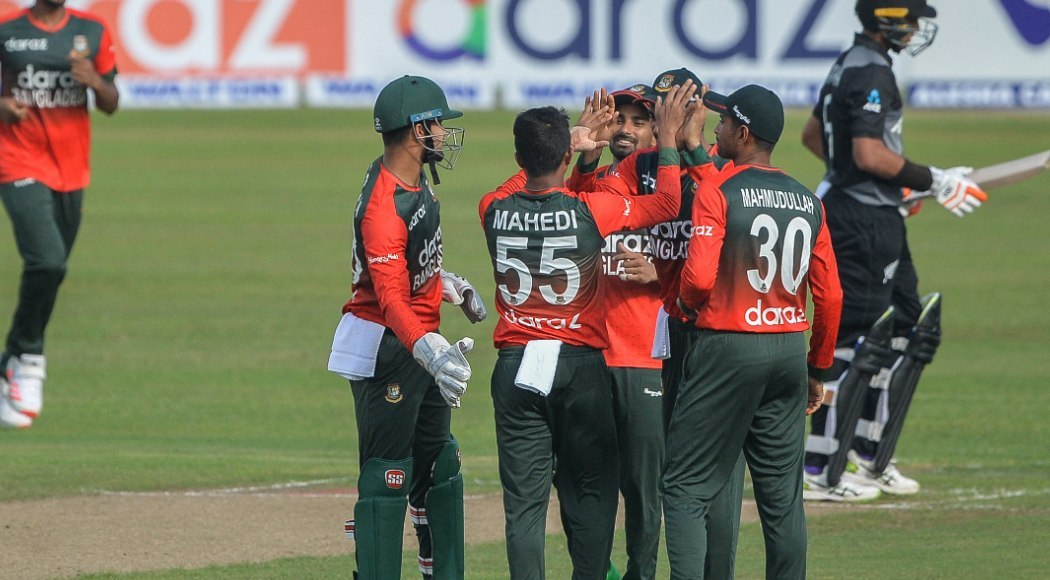 Bowlers help Bangladesh claim first T20 win over New Zealand