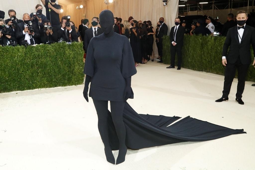 Kim Kardashian's all black ensemble was the subject of much debate. Reuters