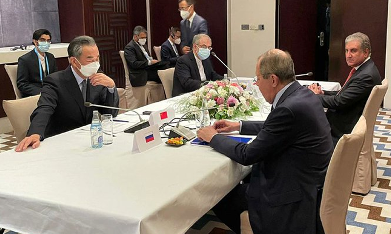 پاکستان،چین،روس اور ایران کاخطے میں امن و استحکام کےعزم کااعادہ