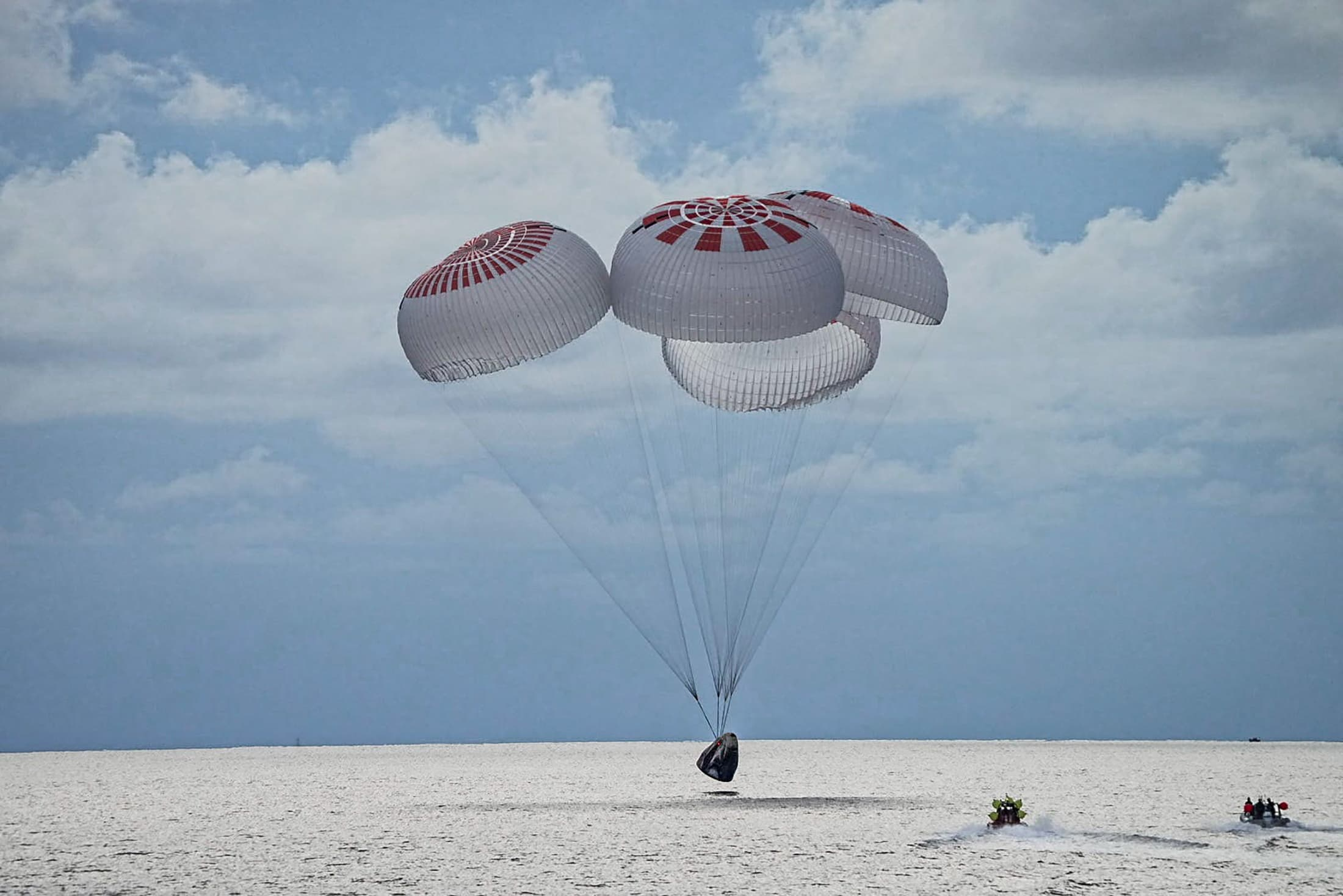 SpaceX supplied the spacecraft, launched it, controlled its flight and handled the splashdown recovery operation. Reuters