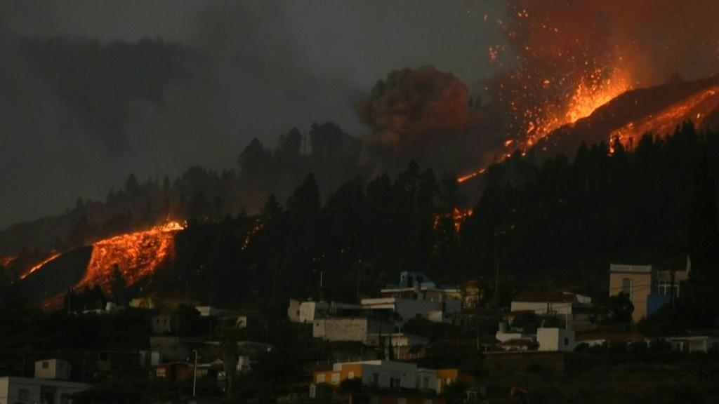 Volcano erupts on Spain's Canary Islands. AFP Photo
