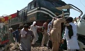 At least 19 killed in crash between coaster, train near Sheikhupura: Railways