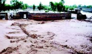 کراچی: ملیرندی کے سیلابی پانی سے درجنوں دیہات زیرآب