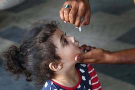 Nationwide polio vaccination campaign began today