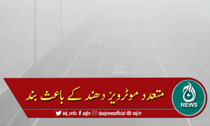 پنجاب بھر میں مختلف قومی شاہراہوں پر شدید دھند کا راج